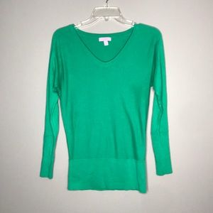 Lilly Pulitzer green dolman sleeve sweater top XS